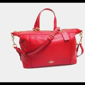 Coach Lenox Satchel in Pebbled Leather